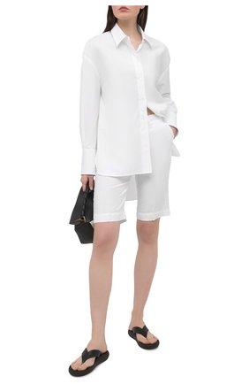 Женские льняные шорты 120% LINO белого цвета, арт. T0W2153/0253/000 | Фото 2