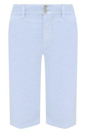 Женские льняные шорты 120% LINO голубого цвета, арт. T0W2153/0253/000 | Фото 1