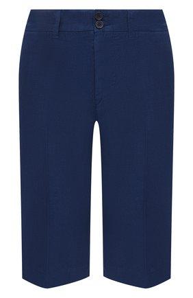 Женские льняные шорты 120% LINO синего цвета, арт. T0W2153/0253/000 | Фото 1