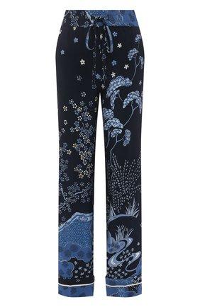Женские шелковые брюки REDVALENTINO синего цвета, арт. VR3RBC20/5M0 | Фото 1