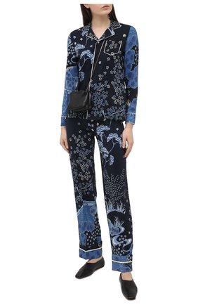 Женские шелковые брюки REDVALENTINO синего цвета, арт. VR3RBC20/5M0 | Фото 2