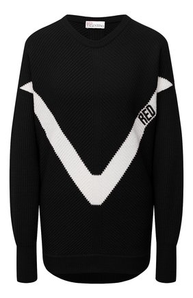 Женский свитер REDVALENTINO черного цвета, арт. VR3KC06D/5NF | Фото 1