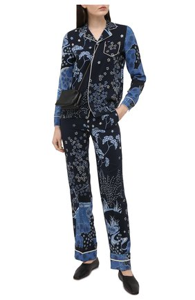 Женская шелковая рубашка REDVALENTINO синего цвета, арт. VR3ABF15/5M0 | Фото 2