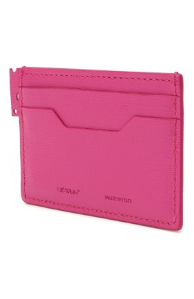 Женский кожаный футляр для кредитных карт OFF-WHITE фуксия цвета, арт. 0WNC014R21LEA001 | Фото 2