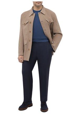 Мужские шерстяные брюки CANALI темно-синего цвета, арт. 71019/AA02524/60-64   Фото 2