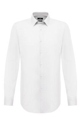 Мужская хлопковая сорочка BOSS белого цвета, арт. 50447265 | Фото 1