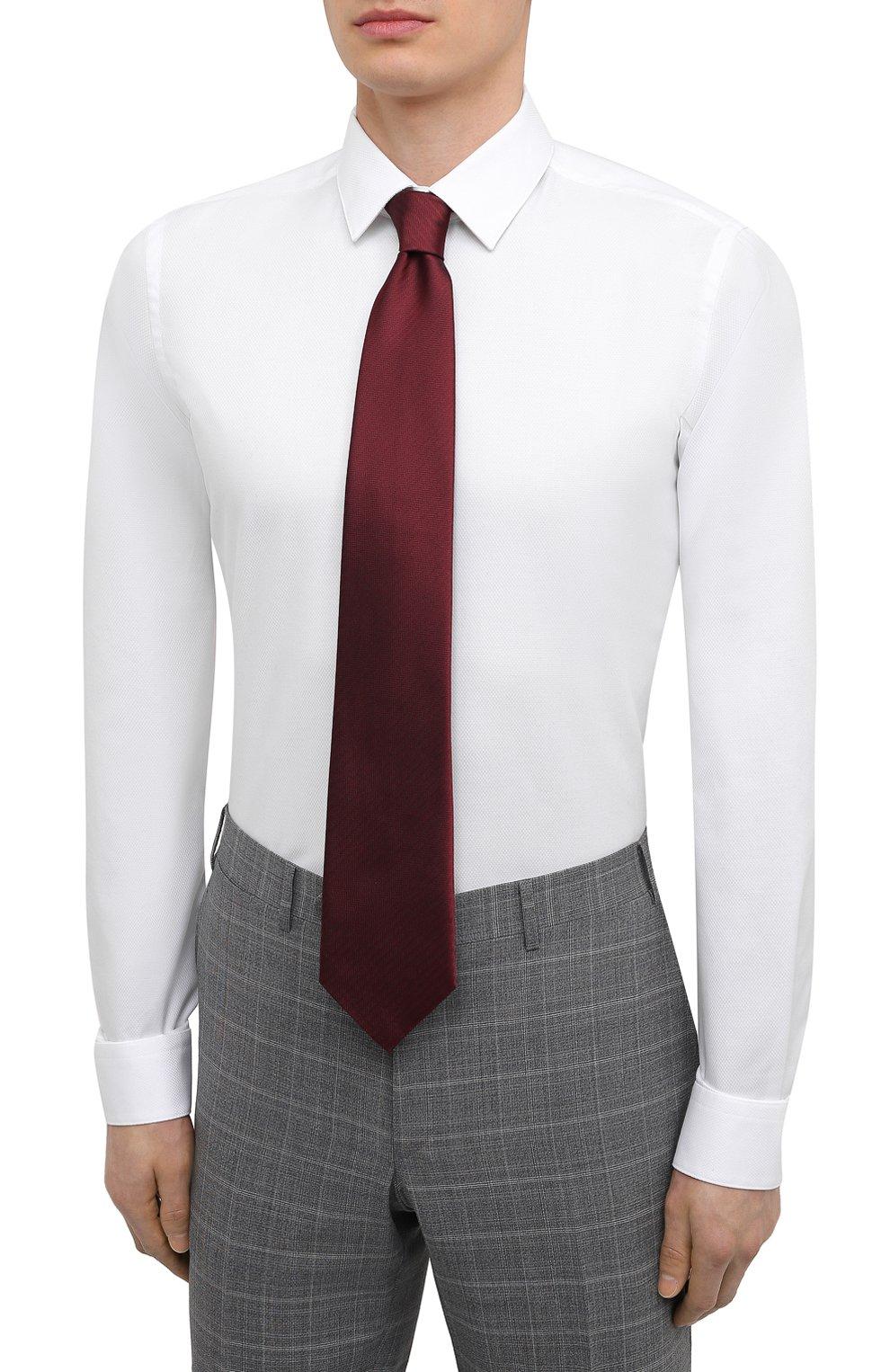 Мужская хлопковая сорочка BOSS белого цвета, арт. 50447265 | Фото 4
