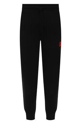Мужские хлопковые джоггеры HUGO черного цвета, арт. 50447963 | Фото 1 (Материал внешний: Хлопок; Кросс-КТ: Спорт; Стили: Спорт-шик; Мужское Кросс-КТ: Брюки-трикотаж; Длина (брюки, джинсы): Стандартные; Силуэт М (брюки): Джоггеры)