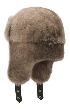 Норковая шапка-ушанка | Фото №2