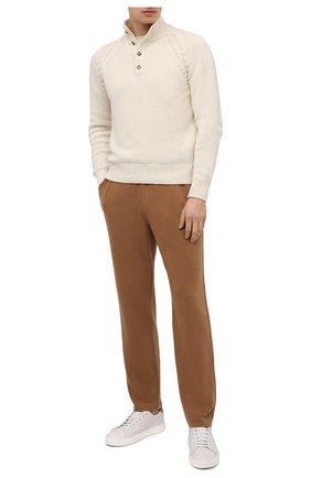 Мужские брюки из шерсти викуньи LORO PIANA бежевого цвета, арт. FAL4807/VVIC | Фото 2