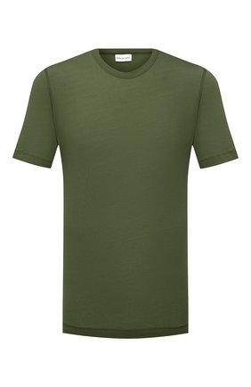 Мужская хлопковая футболка DRIES VAN NOTEN зеленого цвета, арт. 211-21102-2607 | Фото 1