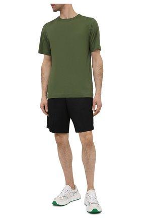 Мужская хлопковая футболка DRIES VAN NOTEN зеленого цвета, арт. 211-21102-2607 | Фото 2