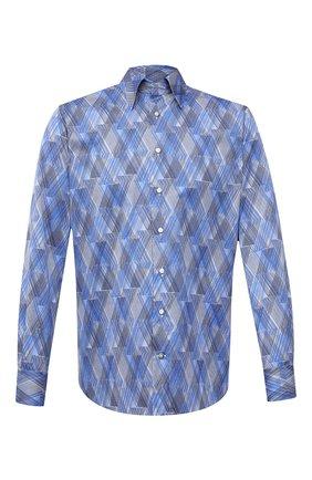 Мужская хлопковая рубашка ZILLI синего цвета, арт. MFV-3411-2142/0001 | Фото 1