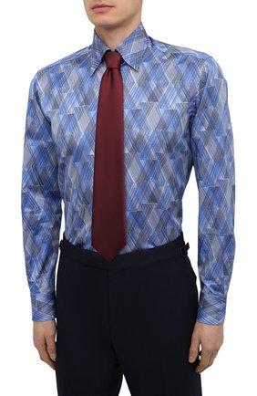 Мужская хлопковая рубашка ZILLI синего цвета, арт. MFV-3411-2142/0001   Фото 4