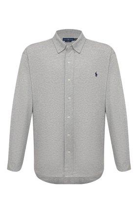 Мужская хлопковая рубашка POLO RALPH LAUREN серого цвета, арт. 711654408/PRL BS | Фото 1