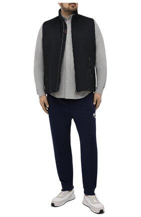 Мужская хлопковая рубашка POLO RALPH LAUREN серого цвета, арт. 711654408/PRL BS | Фото 2