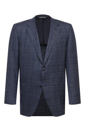 Мужской шерстяной пиджак CANALI темно-синего цвета, арт. 23288/CF01733/116/60-64   Фото 1