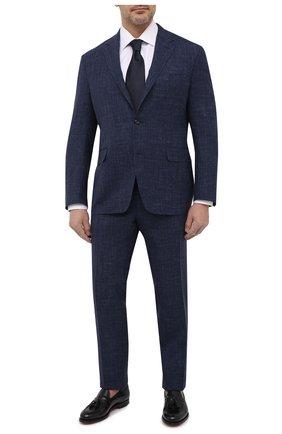 Мужской костюм из шерсти и шелка CANALI темно-синего цвета, арт. 25270/53/AE00386/60-64   Фото 1