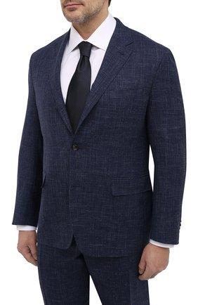 Мужской костюм из шерсти и шелка CANALI темно-синего цвета, арт. 25270/53/AE00386/60-64   Фото 2