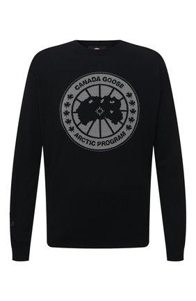 Мужской шерстяной джемпер CANADA GOOSE черного цвета, арт. 8807MC | Фото 1