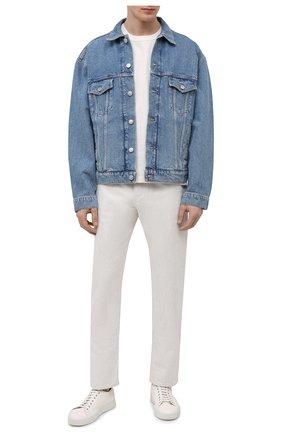 Мужские кожаные кеды ALDO BRUE кремвого цвета, арт. ABG06L-CC.S.960 | Фото 2