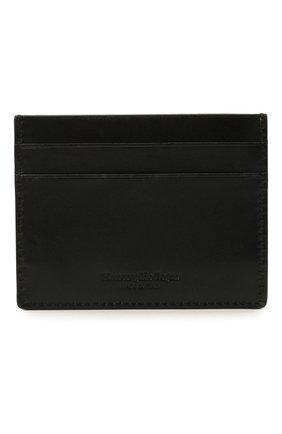 Мужской кожаный футляр для кредитных карт ERMENEGILDO ZEGNA черного цвета, арт. E1139W-LHC0R | Фото 1