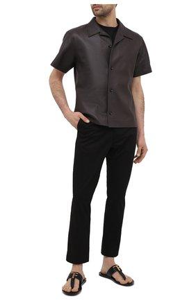 Мужские кожаные шлепанцы TOM FORD черного цвета, арт. J1307T-LCL076 | Фото 2