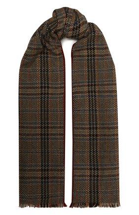 Мужской кашемировый шарф LORO PIANA коричневого цвета, арт. FAL4593   Фото 1 (Материал: Кашемир, Шерсть; Кросс-КТ: кашемир)