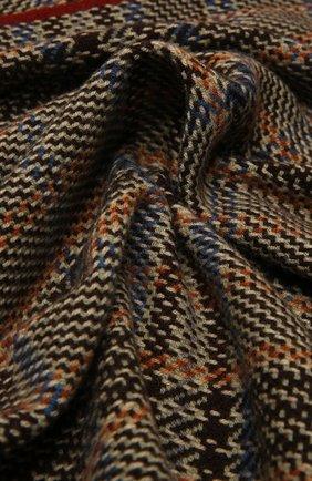 Мужской кашемировый шарф LORO PIANA коричневого цвета, арт. FAL4593   Фото 2 (Материал: Кашемир, Шерсть; Кросс-КТ: кашемир)