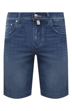 Мужские джинсовые шорты JACOB COHEN синего цвета, арт. J6636 C0MF 00517-W3/55 | Фото 1 (Материал внешний: Хлопок; Длина Шорты М: До колена; Принт: Без принта; Стили: Кэжуэл; Кросс-КТ: Деним)