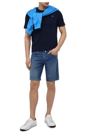 Мужские джинсовые шорты JACOB COHEN синего цвета, арт. J6636 C0MF 00517-W3/55 | Фото 2 (Материал внешний: Хлопок; Длина Шорты М: До колена; Принт: Без принта; Стили: Кэжуэл; Кросс-КТ: Деним)