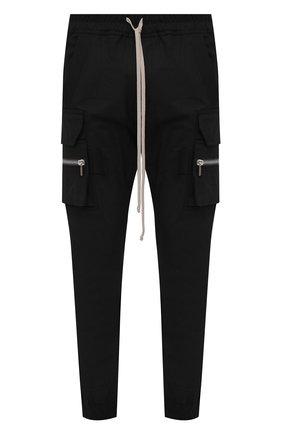 Мужские хлопковые джоггеры RICK OWENS черного цвета, арт. RU21S6396/TE | Фото 1