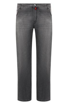Мужские джинсы KITON серого цвета, арт. UPNJS/J07T21/44-52 | Фото 1