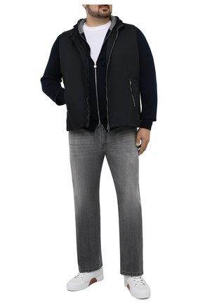 Мужские джинсы KITON серого цвета, арт. UPNJS/J07T21/44-52 | Фото 2