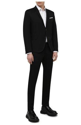 Мужской хлопковый костюм NEIL BARRETT черного цвета, арт. PBAB49/Q011 | Фото 1