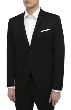 Мужской хлопковый костюм NEIL BARRETT черного цвета, арт. PBAB49/Q011 | Фото 2
