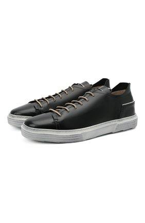 Мужские кожаные кеды MOMA черного цвета, арт. 4AS106-B0   Фото 1