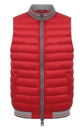 Мужской пуховый жилет HERNO красного цвета, арт. PI0722U/12361 | Фото 1