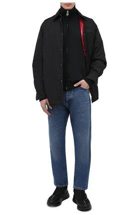 Мужские комбинированные кроссовки ALEXANDER MCQUEEN черного цвета, арт. 604281/WHZT7   Фото 2 (Подошва: Массивная; Материал внутренний: Текстиль, Натуральная кожа; Стили: Гранж)