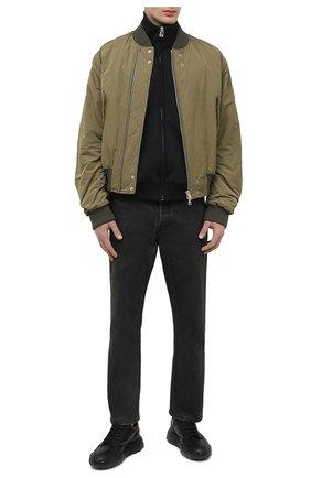 Мужские кожаные кроссовки ALEXANDER MCQUEEN черного цвета, арт. 645887/WHZ9A   Фото 2