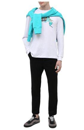 Мужские хлопковые брюки DIESEL черного цвета, арт. A00999/0JAZA | Фото 2