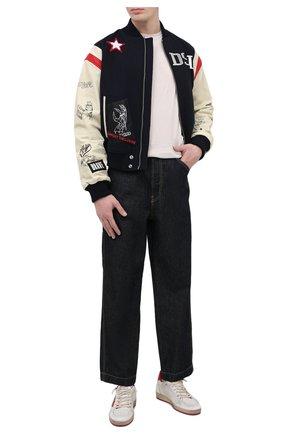 Мужской комбинированный бомбер DIESEL разноцветного цвета, арт. A01961/0LBAC | Фото 2 (Рукава: Длинные; Длина (верхняя одежда): Короткие; Материал подклада: Синтетический материал; Материал внешний: Шерсть; Кросс-КТ: Куртка; Принт: С принтом; Мужское Кросс-КТ: шерсть и кашемир; Стили: Гранж)