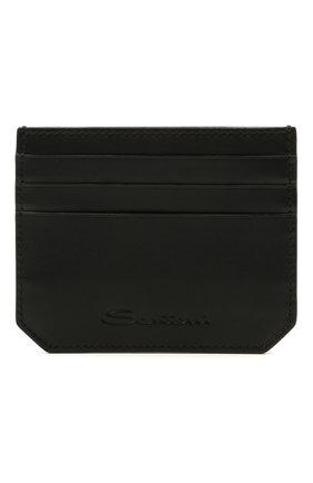 Мужской кожаный футляр для кредитных карт SANTONI черного цвета, арт. UFPPA2026F0-XVVDN01 | Фото 1