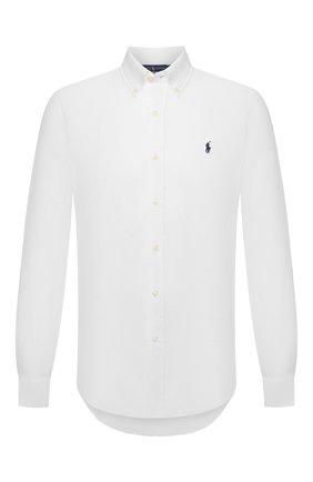 Мужская льняная рубашка POLO RALPH LAUREN белого цвета, арт. 710829449 | Фото 1