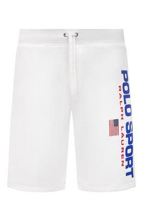 Мужские хлопковые шорты POLO RALPH LAUREN белого цвета, арт. 710835767 | Фото 1
