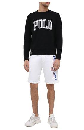 Мужские хлопковые шорты POLO RALPH LAUREN белого цвета, арт. 710835767 | Фото 2