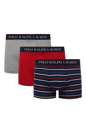 Мужские комплект из трех боксеров POLO RALPH LAUREN разноцветного цвета, арт. 714830299/015 | Фото 1