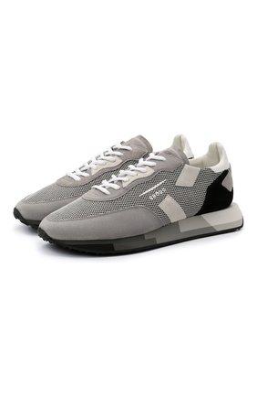Мужские комбинированные кроссовки GHOUD серого цвета, арт. E11ERMLMML08 | Фото 1