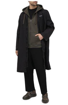 Мужской хлопковая толстовка VALENTINO хаки цвета, арт. VV3MF14B7B7 | Фото 2 (Рукава: Длинные; Материал внешний: Хлопок; Длина (для топов): Стандартные; Стили: Спорт-шик; Мужское Кросс-КТ: Толстовка-одежда)