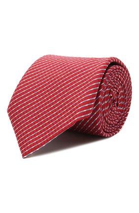 Мужской шелковый галстук ETON красного цвета, арт. A000 32920   Фото 1